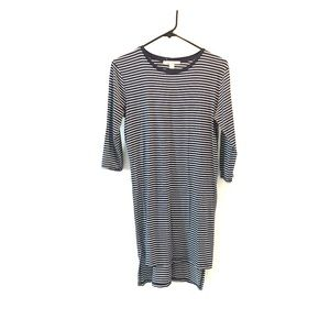 miami striped navy blue dress